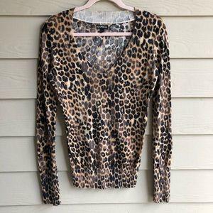 Express Leopard Long Sleeve Sweater | M